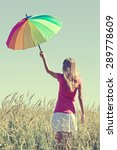 young woman with colorful... | Shutterstock . vector #289778609