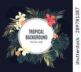 summer tropical hawaiian... | Shutterstock . vector #289781387