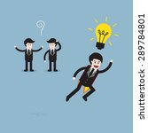 businessman think different ... | Shutterstock .eps vector #289784801