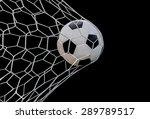shoot soccer ball in goal  net... | Shutterstock . vector #289789517