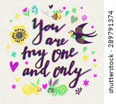 you are the one and only.... | Shutterstock .eps vector #289791374