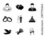 set of wedding icons   cake ... | Shutterstock .eps vector #289792664