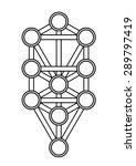 kabbalah  sephiroth  tree of... | Shutterstock .eps vector #289797419