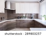 cozy beige kitchen interior... | Shutterstock . vector #289803257