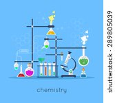 chemistry laboratory workspace... | Shutterstock .eps vector #289805039