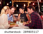 group of friends eating dinner... | Shutterstock . vector #289805117