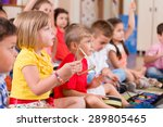childs playing musical... | Shutterstock . vector #289805465