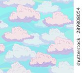seamless pattern with funny... | Shutterstock .eps vector #289808054
