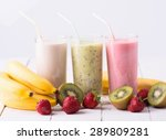 fruit smoothies with ... | Shutterstock . vector #289809281