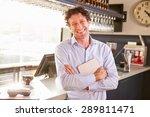 male restaurant owner holding... | Shutterstock . vector #289811471