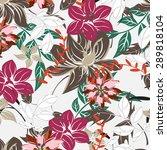 seamless vector floral pattern. ... | Shutterstock .eps vector #289818104