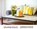 modern wooden coffee table and... | Shutterstock . vector #289819505