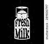 White Scratched Milk Can On...