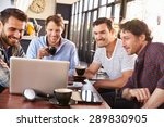 group of men looking at a... | Shutterstock . vector #289830905