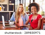 two women with computer in a... | Shutterstock . vector #289830971