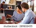 man and woman meeting over... | Shutterstock . vector #289833455
