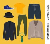 man clothing set  clothes icons ... | Shutterstock .eps vector #289837631