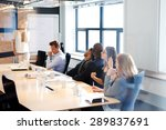 white female executive standing ... | Shutterstock . vector #289837691