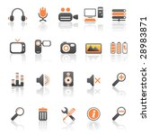 media and computer icons | Shutterstock .eps vector #28983871