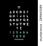 hipster font  typeface ... | Shutterstock .eps vector #289843589