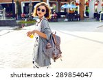 summer sunny lifestyle fashion... | Shutterstock . vector #289854047