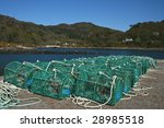 Lobster pots - stock photo
