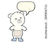 cartoon cute little bear with... | Shutterstock . vector #289856711