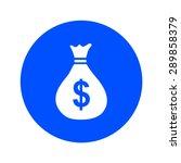 money bag icon. dollar usd...
