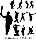 cricket players collection   ... | Shutterstock .eps vector #28986145