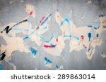 old painted wall with color... | Shutterstock . vector #289863014