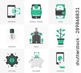 set of vector icons into flat... | Shutterstock .eps vector #289868831