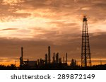 oil refinery plant at sunrise | Shutterstock . vector #289872149