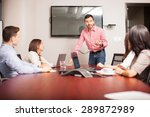 group of people in a meeting...   Shutterstock . vector #289872989