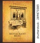 restaurant menu design. vector... | Shutterstock .eps vector #289873385