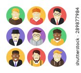 flat people avatars. smiling... | Shutterstock .eps vector #289877984