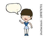 cartoon woman with idea with... | Shutterstock . vector #289878701