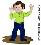vector illustration of man... | Shutterstock .eps vector #289881149