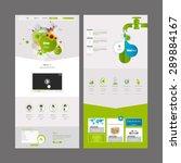 eco one page website design...