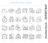 simple linear icons in a modern ... | Shutterstock .eps vector #289887869