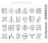 simple linear icons in a modern ... | Shutterstock .eps vector #289888325