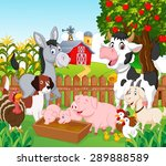 collection animal in the farm | Shutterstock .eps vector #289888589