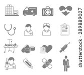 vector icons and symbols... | Shutterstock .eps vector #289889027