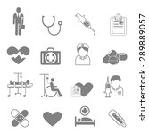 vector icons and symbols... | Shutterstock .eps vector #289889057