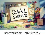 Small photo of Small Business / Small business concept on bulletin board in office