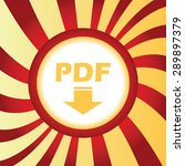 yellow icon with text pdf and...