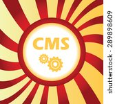yellow icon with text cms and...