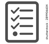 checklist icon from business... | Shutterstock .eps vector #289906604