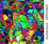 geometric multicolor colorful... | Shutterstock . vector #289912865
