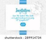 wedding invitation card. vector ... | Shutterstock .eps vector #289914734