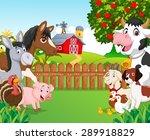 cartoon happy animal collection